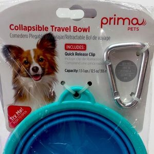 Prima Pet Collapsible Travel Bowls w/ Carabiner